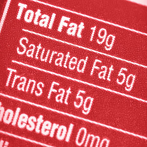 food transfat label