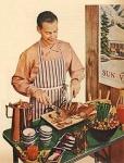 husband vintage BBQ