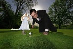 woman bride golf