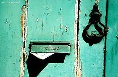 letter green door