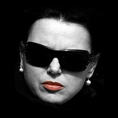 woman sunglasses angry