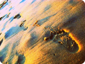 baby steps sand