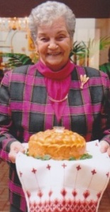 My mom Joanie with her famous Easter paska