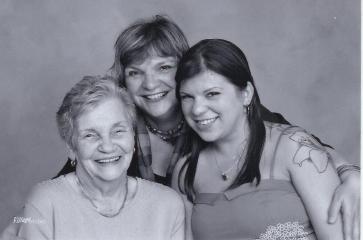 Mum Carolyn and Larissa