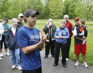 "Dr. David Sabgir at one of his ""Walk With A Doc"" events"