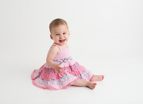 Rosie Munchkin 1 yr birthday pink dress