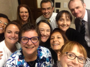Having way too much fun with Dr. Victor Montori (top centre) and the KER Unit team!
